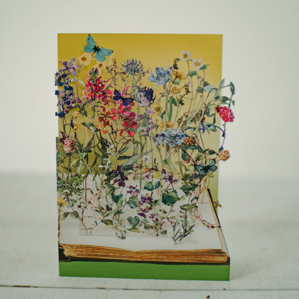 Flowers lasercut card