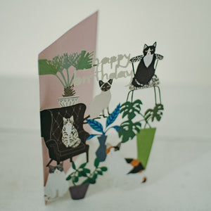 Cats lasercut card