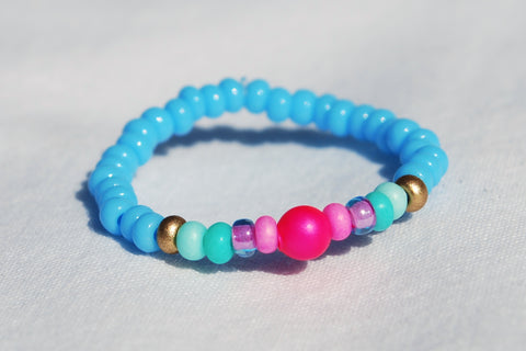 Neon Ring - Sky Blue/Pinks