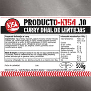 K154-10. CURRY DHAL DE LENTEJAS