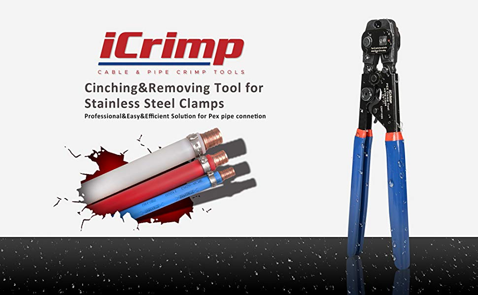 iCrimp Best Seller CRP1096 PEX Cinch Tool with Removing Function