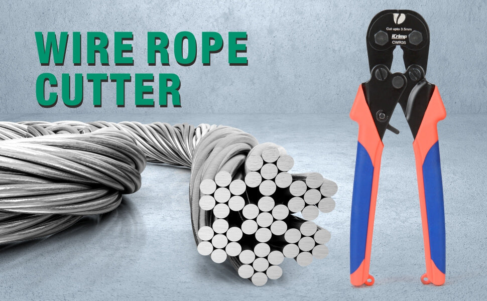 iCrimp wire rope cutter up to 35mm