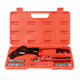 "IWISS 1/2""&3/4"" Angel Combo PEX Pipe Crimping Tool Set with Copper Rings&Cutter&Gauge for All US F1807 Standards- Portable Case"