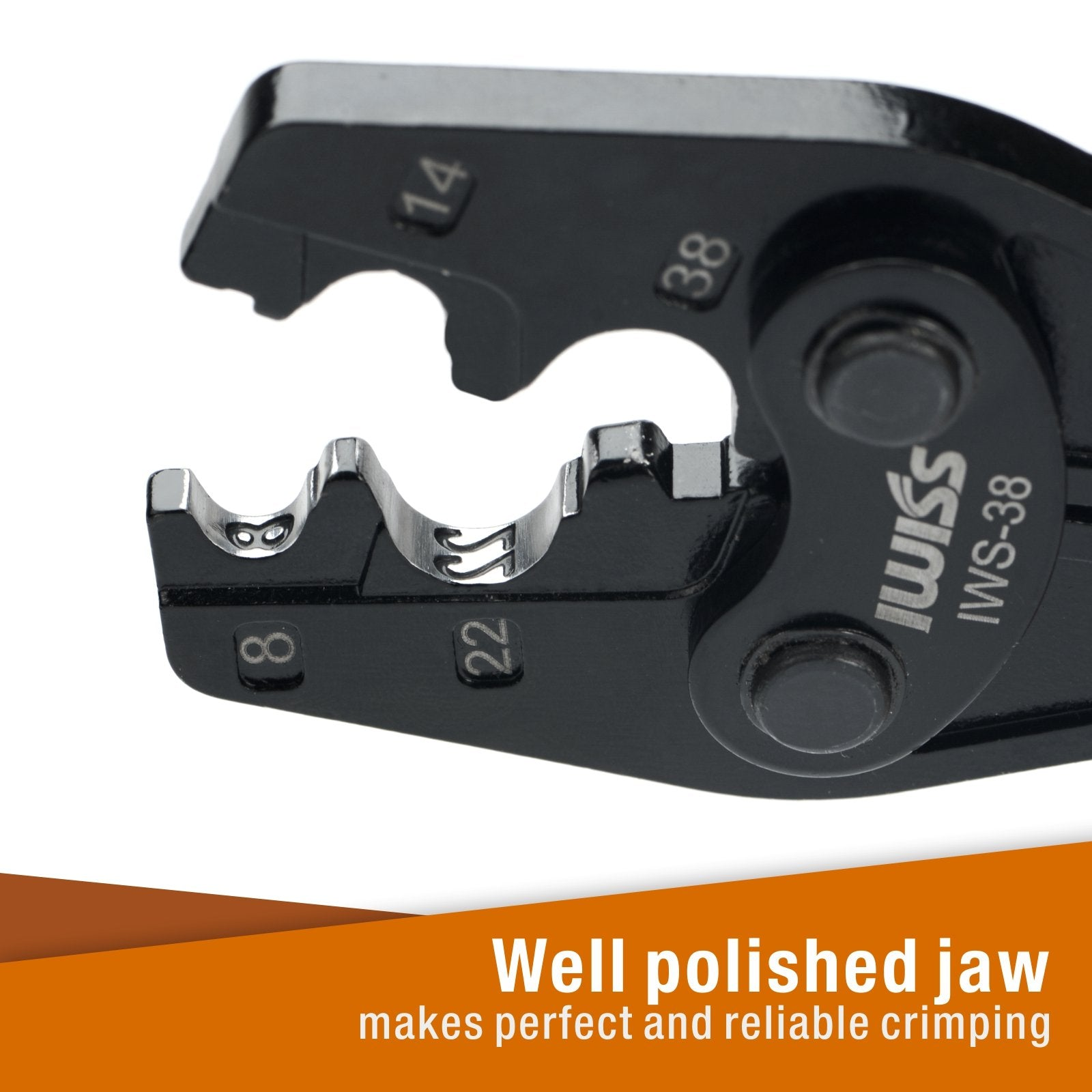 Ratchet Crimping Tool for Non-Insulated Terminals from AWG 8-2