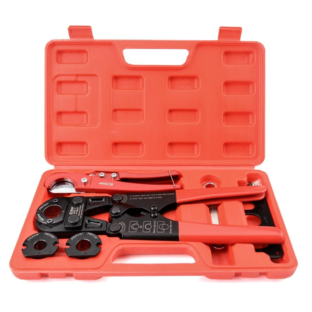 "Pex Pipe Plumbing Tool kit for 3/8"",1/2"",3/4"",1"" Copper Ring for ASTM F1807"