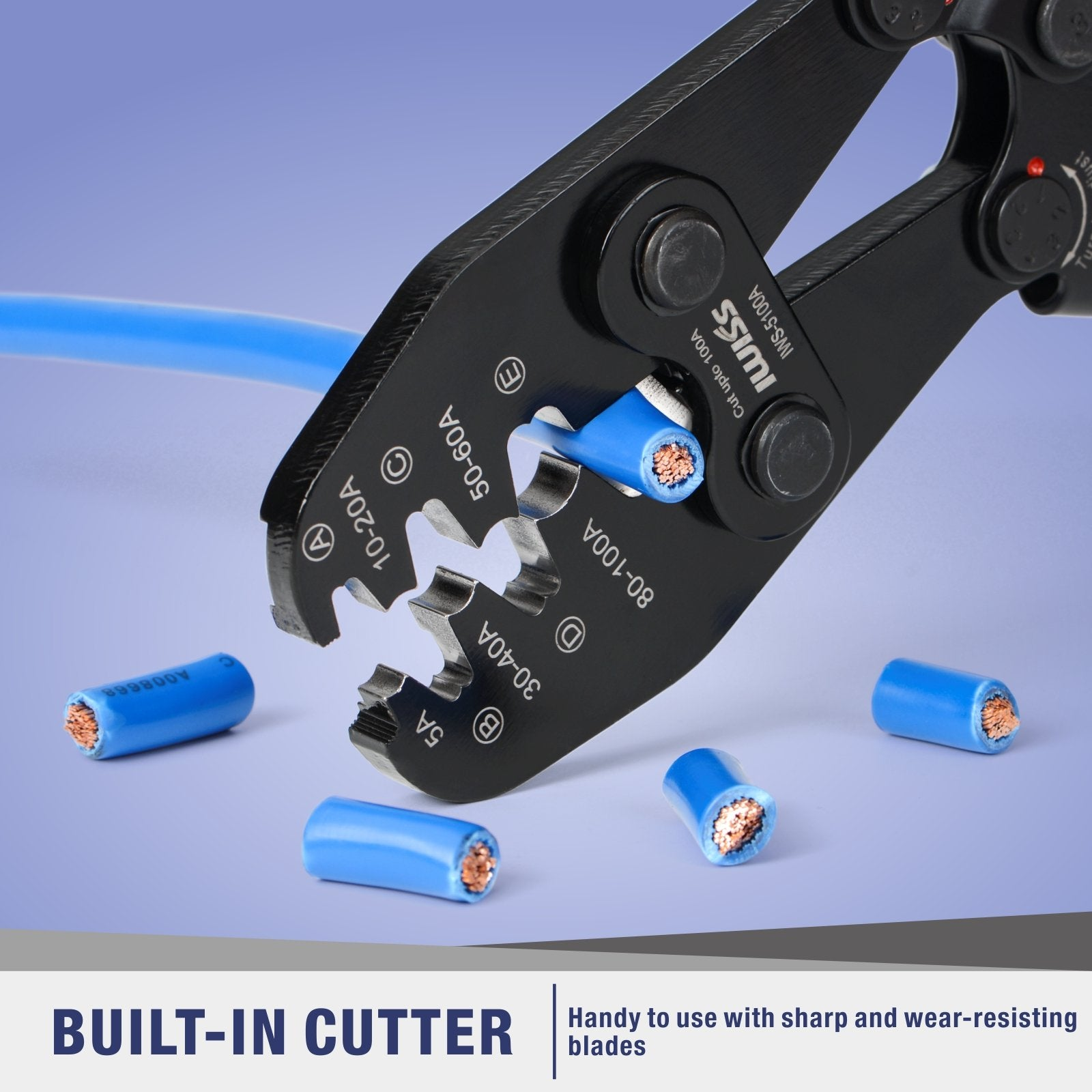 Battery Lugs and Open Barrel Connectors Crimping Tools work with Wire AWG 16-4