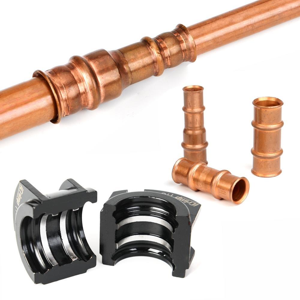 Copper Pipe Press Tool for ZOOMLOCK refrigerant and HVAC fittings  with interchangeable Jaws