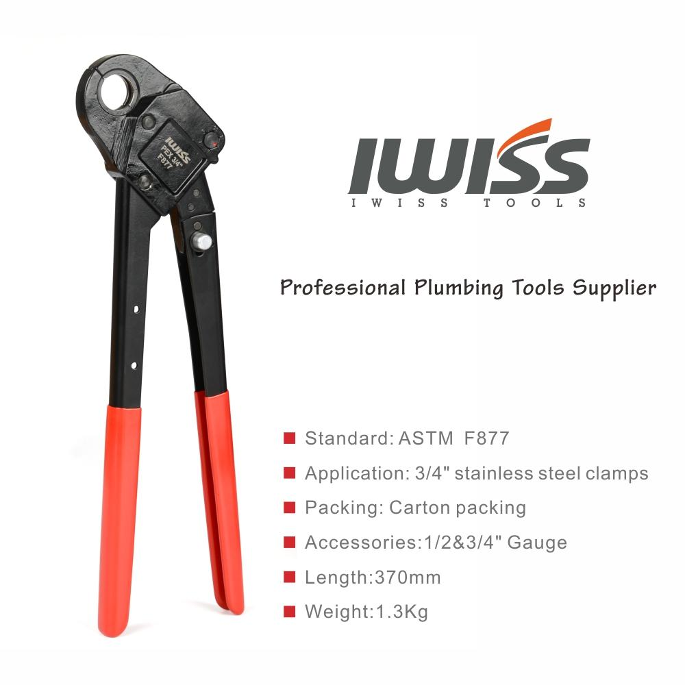 IWISS Stainless Steel Sleeves  Crimping Tool Meet ASTM 877 Plier Angled type