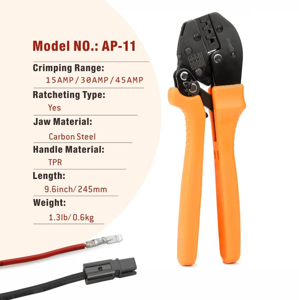 IWISS Ratcheting Crimping Tool Specifications