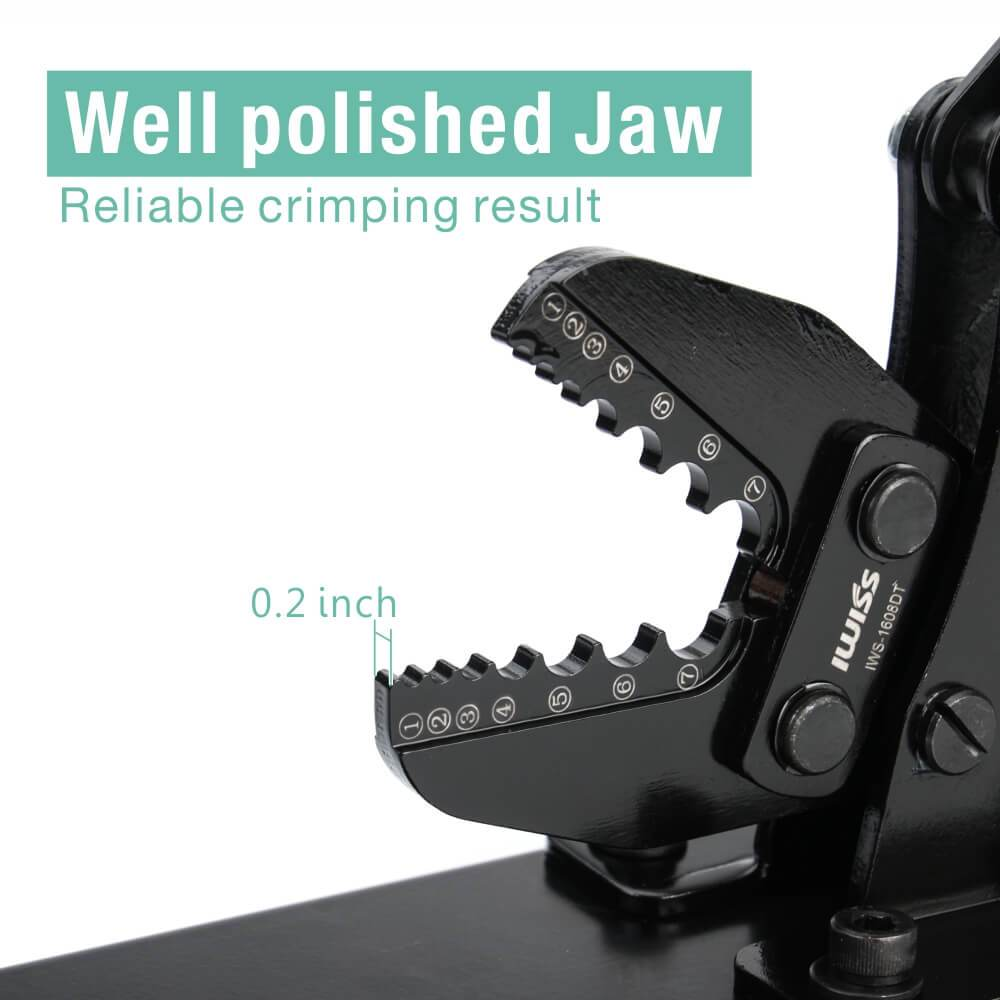desk-type-wire-rope-crimping-tool-IWS-1608DT-well-polished-jaw