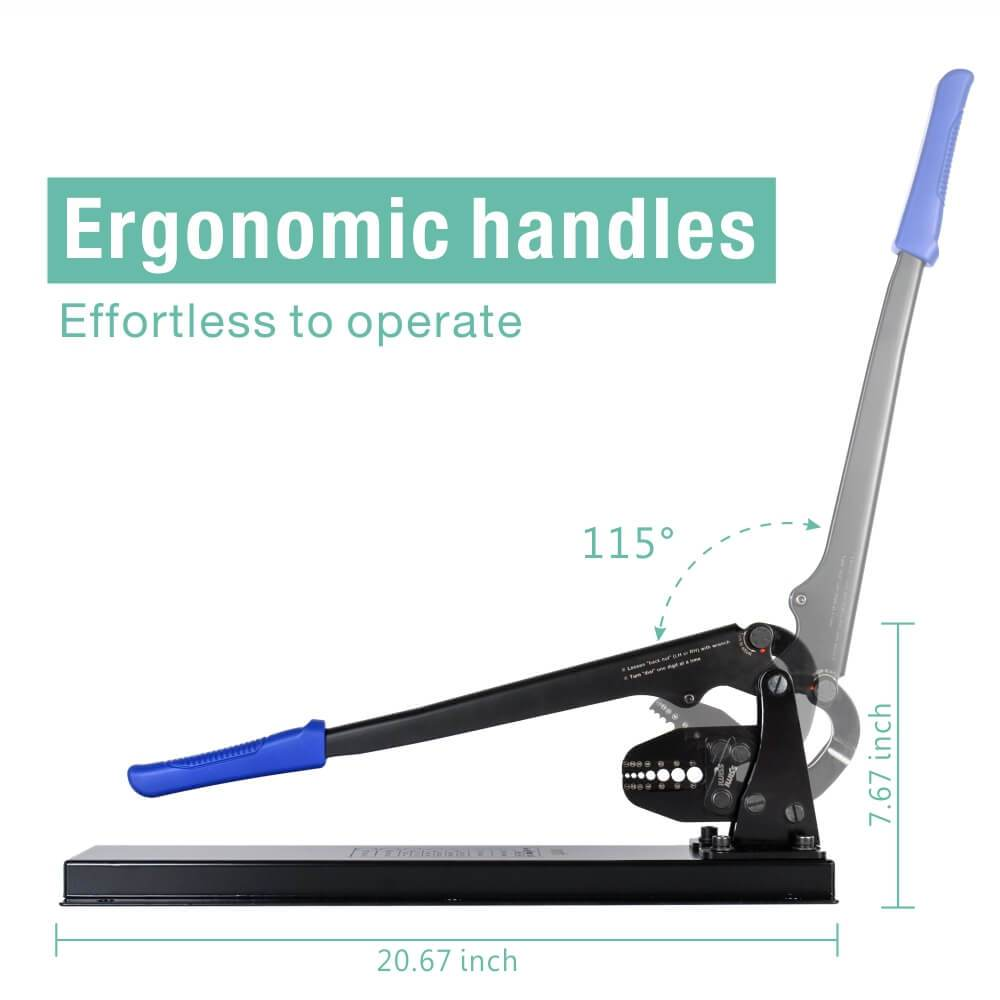 desk-type-wire-rope-crimping-tool-IWS-1608DT-ergonomic-handles