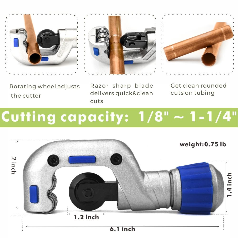 Copper Pipe Pressing Tool Kit with Cutter&Deburring Tool for ProPress Copper Fittings