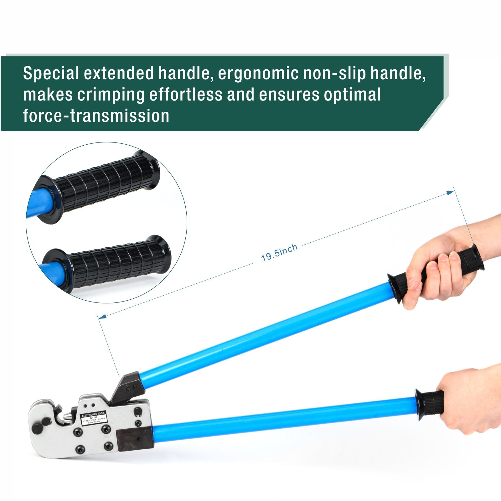 Cable Lug Crimping Tool for 8-95mm2 AWG8-3/0