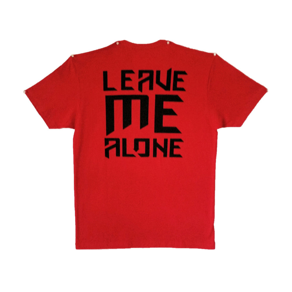 Fitted Leave Me Alone Tee Red (Clearance)