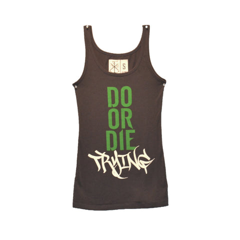 Ladies' Do Or Die Trying Tank Charcoal (Clearance)