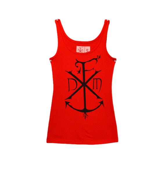 Ladies Anchor Tank Red (Clearance)