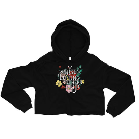 We Rise Oversized Crop Hoodie