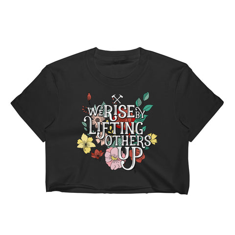 We Rise Raw Crop Tee (Runs Small)