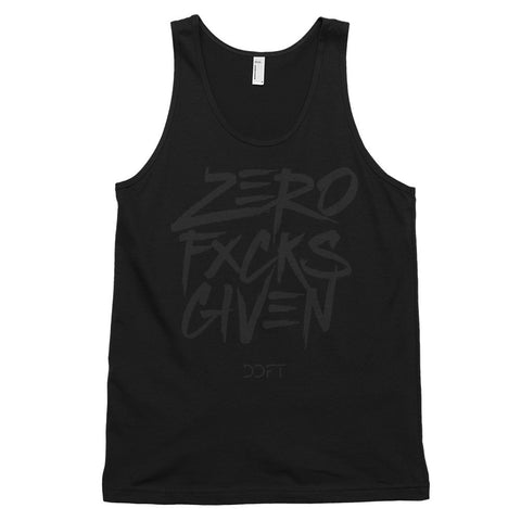 Zero Fxcks Given Tank Black Edition