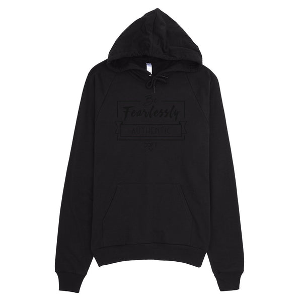 Be Fearlessly Authentic Hoodie Black Edition (Unisex)