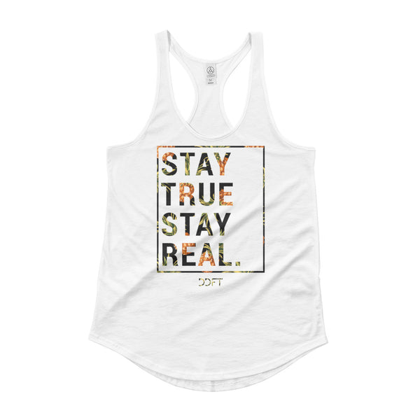 Ladies' Stay Real Shirttail Racerback