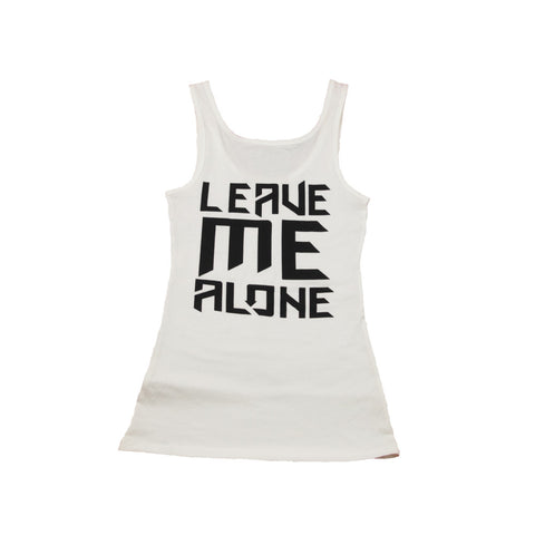 Ladies Leave Me Alone Tank White