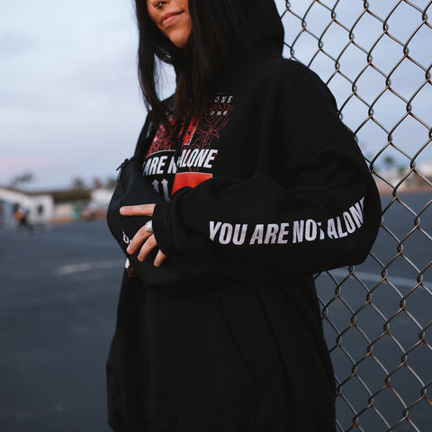 You Are Not Alone Graphic Hoodie