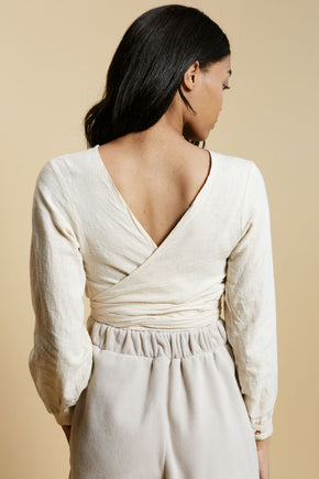 Thea Top in Ivory