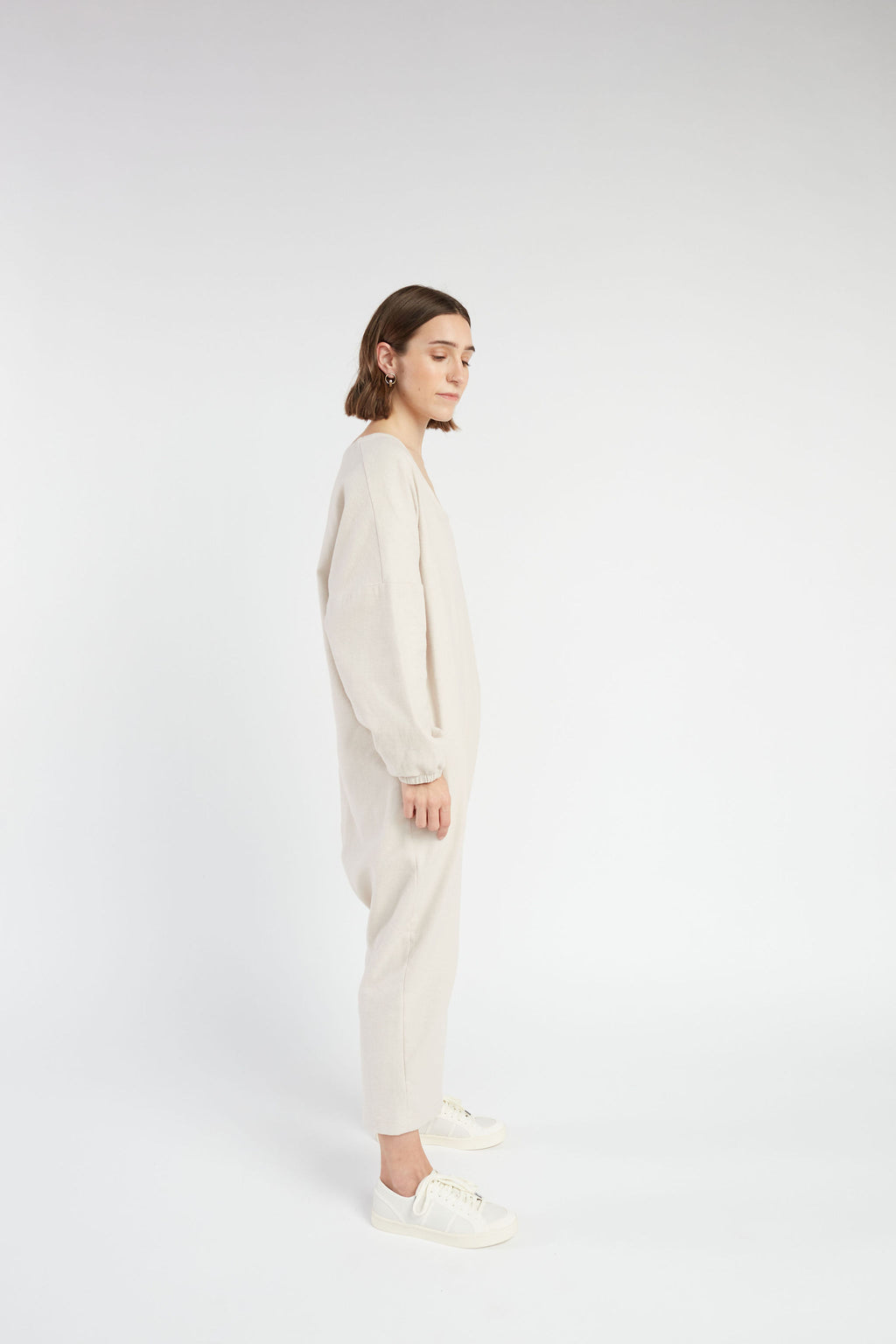Marlow jumpsuit in Stone