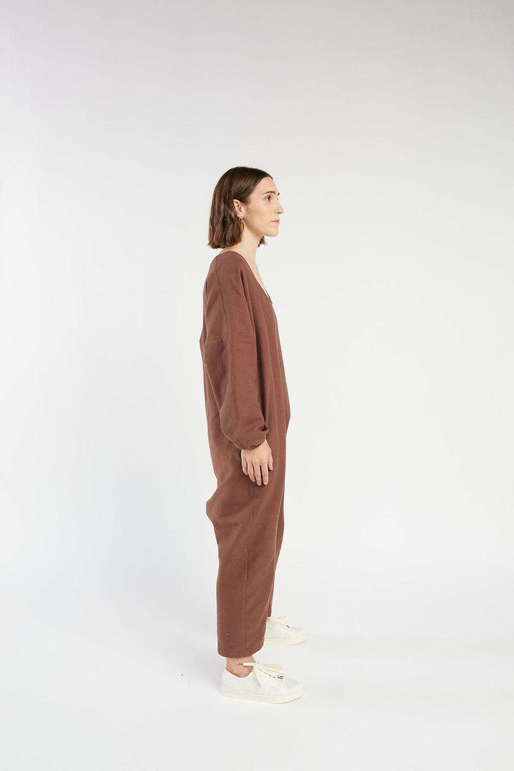 Marlow jumpsuit in Chocolate