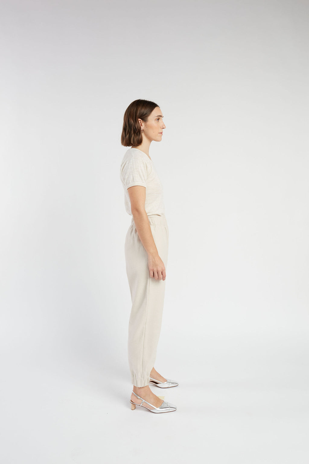Emery pant in Stone