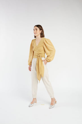 Mia wrap Top in Honey