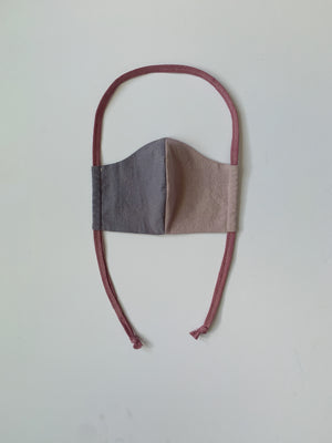 Cloth Mask in Blue+Mauve