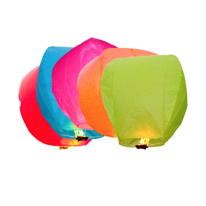 Assorted Colour Lanterns x 5
