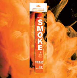 Orange Handheld Outdoor Coloured Smoke