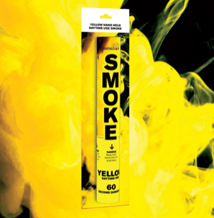 Yellow Handheld Outdoor Coloured Smoke