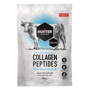 Bovine Collagen Protein Powder - Hydrolysed Peptides 400g