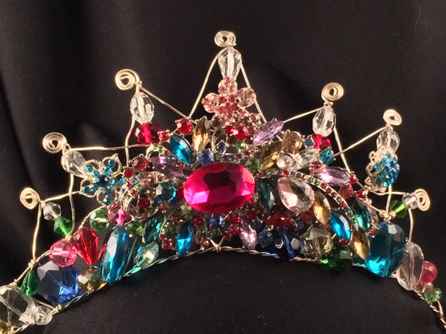 Hot Pink Brooch Empress Tiara