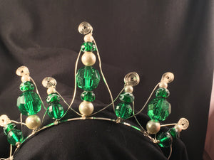 Green and clear tiara