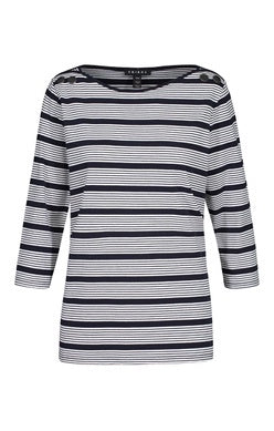 Tribal Navy Stripe 3/4 Slv Top