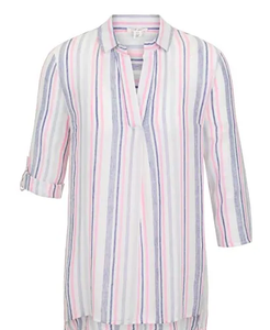 Tribal Azalea Pink Stripe Tunic