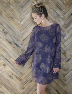 Gentle Fawn Purple Overlay Dress
