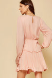 ABU Light Pink Tie Dress