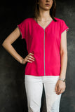 Tribal Pink V Neck