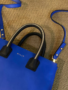 Milly  Mini Logan Blue Bag