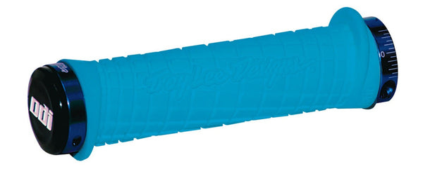 ODI TROY LEE DESIGNS LOCK ON GRIPS - AQUA BLUE