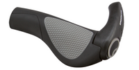 ERGON GP2 GRIPS - BLACK/GRAY, LOCK-ON - LARGE