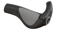 ERGON GP2 GRIPS - BLACK/GRAY, LOCK-ON - SMALL
