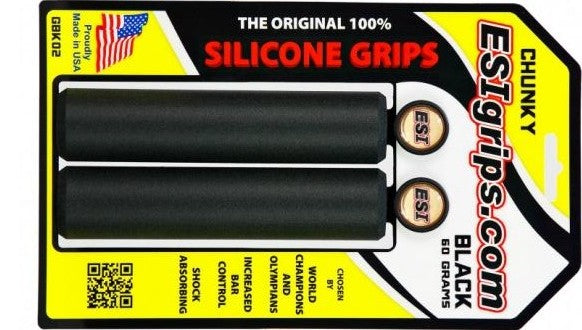 CHUNKY SILICONE GRIPS - NEGRO