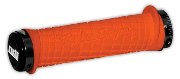 ODI TROY LEE DESIGNS LOCK ON GRIPS - NARANJA